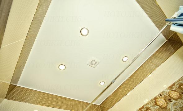 фото матового потолка в ванной