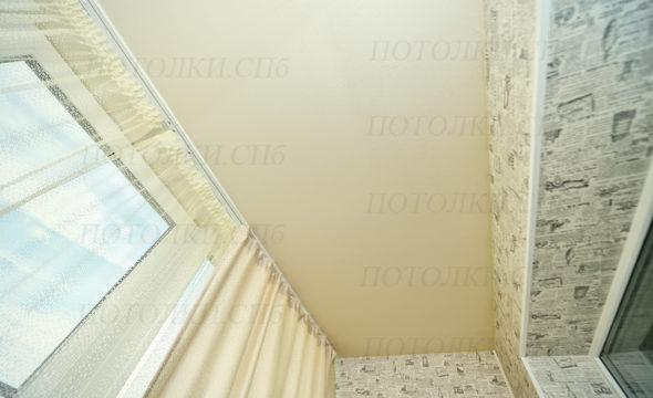 матовый натяжной потолок на лоджии фото 2
