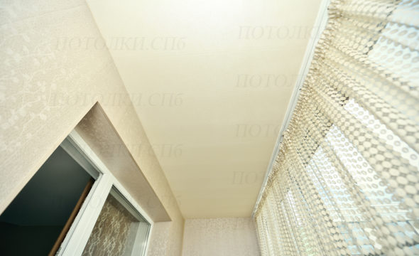 матовый натяжной потолок на лоджии фото 3
