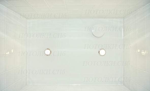 Просвещения белый натяжной потолок в санузле 2
